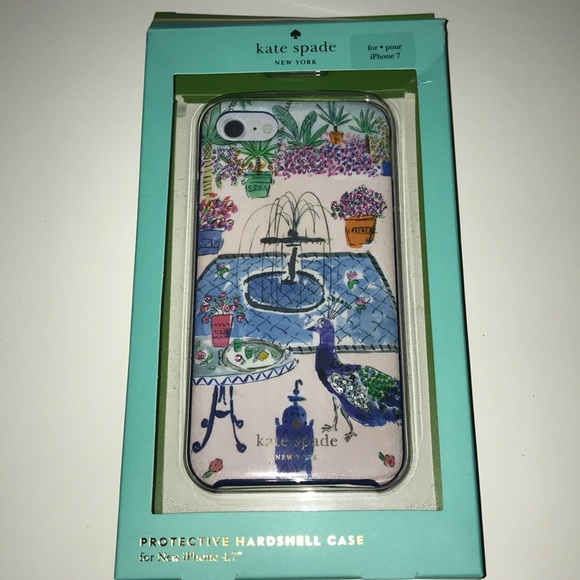 buy popular fe28c 14992 Kate Spade iPhone 7 jeweled garden peacock case
